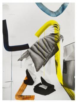 Helen Feifel, Stage I, 2018, Übermalte Fotografie, 186 x 138 cm © Helen Feifel