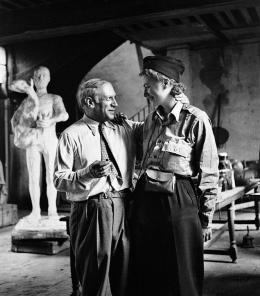 Lee Miller, Picasso and Lee Miller in his studio, Paris, 1944, © Lee Miller Archives Eng- land 2020. Alle Rechte vorbehalten. www.leemiller.co.uk