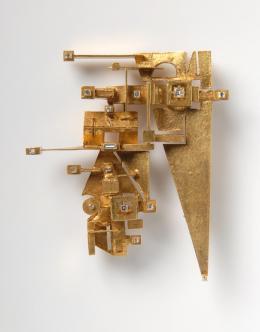 Anton Frühauf. Brosche, 1960er. Die Neue Sammlung – Dauerleihgabe der Danner-Stiftung, München. Foto: Die Neue Sammlung (Alexander Laurenzo)