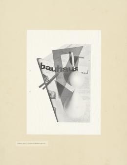 László Moholy-Nagy Wohin geht die typographische Entwicklung, Tafel 58 Collage, 1929 © Kunstbibliothek, Staatliche Museen zu Berlin, Herbert Bayer, VG Bild-Kunst, Bonn 2019