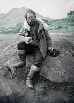 Alfred de Quervain in Grönland, 1912. © ETH Bibliothek, Bildarchiv