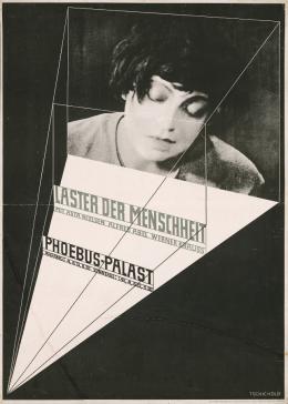 Jan Tschichold (Entwurf): Laster der Menschheit, 1927. Plakat (Raster- und Tiefdruck); © Staatliche Museen zu Berlin, Kunstbibliothek. © Familie Tschichold