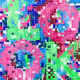 Heimo Zobernig, Ohne Titel, 2014, Acryl, Leinwand, 200 x 200 cm © Bildrecht, Wien 2021