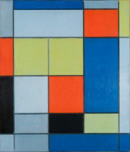 Piet Mondrian: Komposition mit Rot, Gelb und Gelbgrün, 1920. Wilhelm Hack-Museum, Ludwigshafen; Foto: Joachim Werkmeister. (c) VG Bild-Kunst, Bonn, 2019
