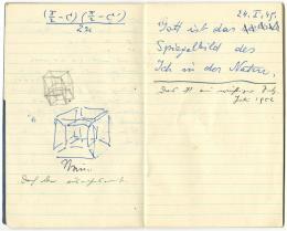 Erwin Schrödinger, Notizbuch mit Gedichtentwürfen, 1949 (c) Bild: Forschungsinstitut Brenner-Archiv, Innsbruck