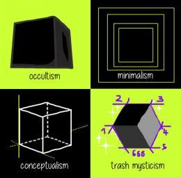 """Trash Mysticism"" aus der Serie Memes, digitale Grafik, 2019  © Karin Ferrari"