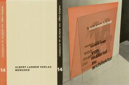 László Moholy-Nagy Von Material zu Architektur Bauhausbuch 14, Probedruck des Buchumschlags, 1929 © Kunstbibliothek, Staatliche Museen zu Berlin