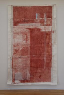 Christoph Luger, Ohne Titel, Leimfarbe auf Papier Collage, 2012, 390 x230 cm
