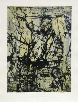 Spuren - Sledi - 2019 Mischtechnik auf Papier 54,5 x 41 cm (65 x 50 cm) © Galerie Welz