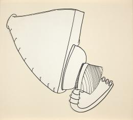 No title, 1965 Ink on paper 8 ¾ × 7 ⁹∕₁₆ in., 22.3 × 19.2 cm Allen Memorial Art Museum, Oberlin College, Oberlin, OH. Gift of Helen Hesse Charash, 1981.40.7.2 © The Estate of Eva Hesse. Courtesy Hauser & Wirth