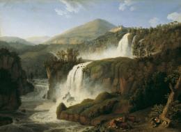 Jacob Philipp Hackert Der große Wasserfall von Tivoli bei Rom, 1790 Öl auf Leinwand 126 x 171 cm Belvedere, Wien Inv.-Nr. 3061  © Belvedere, Wien