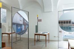 Blick in die Ausstellung im Haus der Architektur Graz (© Julian Lanka-Gil)