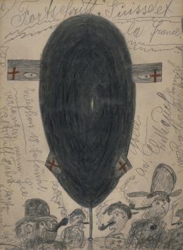"""Karl M. (1886–1942)  """"Fortschritt: Suisse et la france!"""", undatiert  Sammlung Königsfelden, CH, © PDAG, Windisch"""