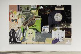 Michael Williams, MPGA (2), 2020, Öl und UV-Druck auf Fotopapier, auf Leinwand aufgezogen, 247,65 × 398,78 cm, © Michael Williams. Courtesy der Künstler, Galerie Eva Presenhuber, Zürich und New York, Gladstone Gallery, New York und Brüssel, und David Kordansky Gallery, Los Angeles, Foto: Stefan Rohner