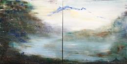 Xianwei Zhu, Zu den Quellen, 2018, Acryl auf Leinwand, 100 x 200 cm. Bildnachweis Xianwei Zhu