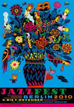 Henning Wagenbreth, Jazzfest, 2010, Siebdruck, 168 x 119 cm, © Henning Wagenbreth