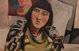 Louis Christian Hess, Modell im Atelier, 1932, Öl auf Leinwand  © TLM