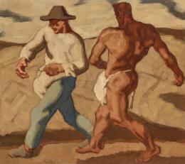 Albin Egger-Lienz, Sämann und Teufel, zweite Fassung, 1921; 131 x 146,5 cm, Öl auf Leinwand  © Tiroler Landesmuseen