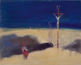 Walter Kurt Wiemken Seiltänzer über dem Abgrund, 1939 Tempera und Pastell auf Karton, 61.5 x 77 cm Kunstmuseum Bern, Verein der Freunde