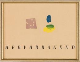 Ingeborg Strobl, Hervorragend, 1993 Aquarell, Papier, 25,2 x 42,3 cm mumok – Museum moderner Kunst Stiftung Ludwig, Schenkung von Ingeborg Strobl, 2017 © Bildrecht Wien 2020 Foto: mumok