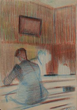 Charles D. (1899–?)  Rückenansicht eines Mannes, undatiert (um 1940)  Sammlung Hans Steck, CH, © ACV PP 1032/38