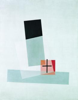 László Moholy-Nagy, Komposition Q VIII, 1922 96,3 x 75,7 x 2 cm Öl auf Leinwand / Oil on canvas mumok - Museum moderner Kunst Stiftung Ludwig Wien, erworben/acquired in 1960 © mumok Wien