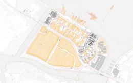 Sand depot, Punggol Timor Island, Singapore. Architecture of Territory, Prof Milica Topalović / Ani Vihervaara with assistents form students of NUS Singapore: Bek Tai Keng, Sheila Ong, Boyang Chew