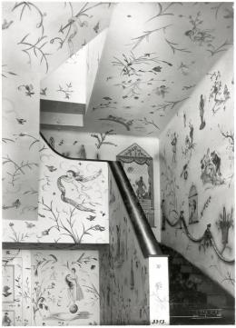 Wandmalereien von Lotte Calm, Lilly Jacobsen, Fritzi Löw, Anny Schröder und Vally Wieselthier in der WW-Textilabteilung, Kärntner Straße 32, 1918 © MAK