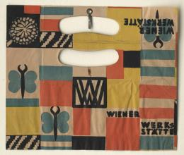 Tragetasche der Wiener Werkstätte unter Verwendung des Stoffmusters Curzola von Mathilde Flögl, 1924/25 © MAK