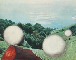 Raimund Abraham, ohne Titel, 1960er Jahre Collage, Tusche, Bleistift auf Papier Privatsammlung © MAK/Georg Mayer