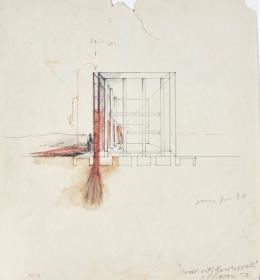 Raimund Abraham, House with Flower Walls. 10 Houses, 1972 Tusche, Bleistift auf Papier Privatsammlung © MAK/Georg Mayer