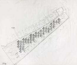 Gunter Wratzfeld, Jakob Albrecht, Eckhard Schulze-Fielitz, Achsiedlung, Bregenz, 1971–1982, Lageplan © Architekturzentrum Wien, Sammlung