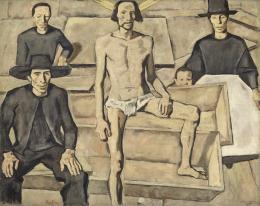 Albin Egger-Lienz, Christi Auferstehung, 1923-1924; 197 x 247 cm, Öl auf Leinwand  © Tiroler Landesmuseen