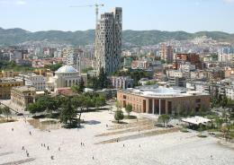 Skanderberg Square, Tirana, AL, Architekten: 51N4E; Anri Sala; Plant en Houtgoed; iRI © Foto: Filip Dujardin