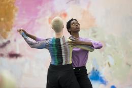 """Megan Rooney, """"EVERYWHERE BEEN THERE"""", in der Ausstellung 'Fire on the Mountain', 2019, Kunsthalle Düsseldorf, courtesy the artist & """"DREI"""", Köln. Foto: © Katja Illner, Düsseldorf."""