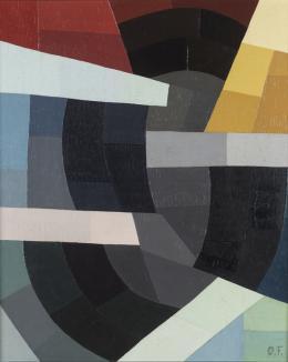 Otto Freundlich, Kräfte, 1934 65 x 54 x 2 cm Öl auf Leinwand / Oil on canvas mumok - Museum moderner Kunst Stiftung Ludwig Wien, erworben/acquired in 1965 © mumok
