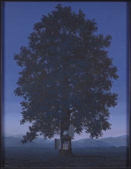 René Magritte, La voix du sang, 1959 116,5 x 89,5 x 2 cm Öl auf Leinwand / Oil on canvas mumok - Museum moderner Kunst Stiftung Ludwig Wien, erworben/acquired in 1960 © Bildrecht Wien