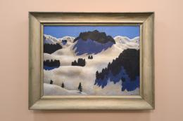 "Blick in die ""Tiroler Moderne? Tiroler Kunst 1900 bis 1960"" im Ferdinandeum. Im Bild ""Winterlandschaft"", 1926, Alfons Walde  © Wolfgang Lackner"