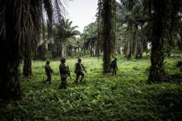 Monusco-Soldaten auf Patrouille gegen die ADF, eine teils islamistische Rebellengruppe Ugandischer Herkunft. Beni, Demokratische Republik Kongo, 13. Nov. 2018.