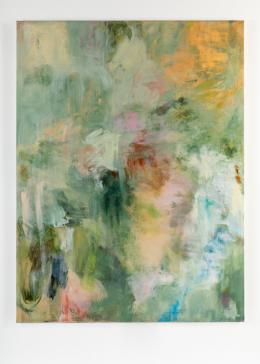 """""""Green, I Want You Green"""", 2020, Acryl, Pastell, Öl auf Leinwand, 200 × 150 cm. Courtesy of the artist and """"DREI"""", Köln."""