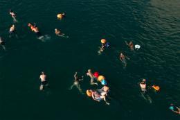 Flussschwimmen. Foto: Lucía de Mosteyrín Muñoz