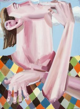 Ákos Ezer, Smoking, 2019 Öl auf Leinwand, 150 x 120 cm