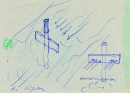 Roman Signer, Skizze zu einer Wasserbeobachtung, 1970er Jahre © Roman Singer