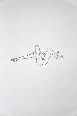 Peter Wehinger , Aus der Serie 'Männer', Zeichnung, Tusche auf Papier © Peter Wehinger