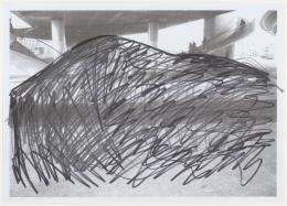 """Lara Almarcegui Ohne Titel [Escher Wyss], 2012 Blatt 2 aus """"Non realized proposal: projects for Zurich West"""", Inkjet-Druck nach Photographie, mit Bleistift und Filzstift überarbeitet, 21.1 x 29.7 cm Graphische Sammlung ETH Zürich / © Lara Almarcegui"""