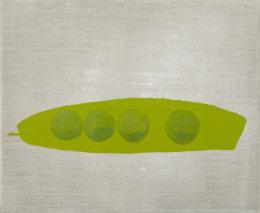 Sereina Steinemann, Erbsenschote, 2019. Acryl auf Leinen, 27 x 33 cm; Courtesy of the artist