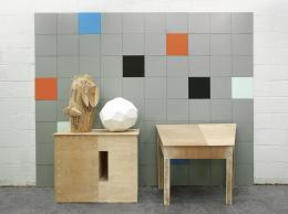 Fabian Peake, Altar Piece 2, 2010. Farbe, Holz, MDF, 211 × 241 cm; Courtesy of the artist