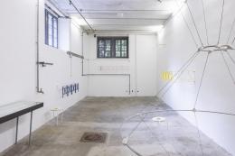 Ausstellungsansicht Raumfahrt IV mit Werken von Martin Jakob und Noha Mokhtar, Museum Langmatt