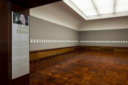 Ausstellungsansicht Herta Müller – Der Beamte sagte, 2021, Museum Langmatt, Baden