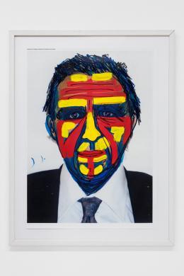 Jimmie Durham, Painted Self Portrait, 2007,  Mixed media: C‑Print, paint 83,5 × 61 cm, Courtesy Christine König Galerie, Wien, Foto: © kunst-dokumentation.com